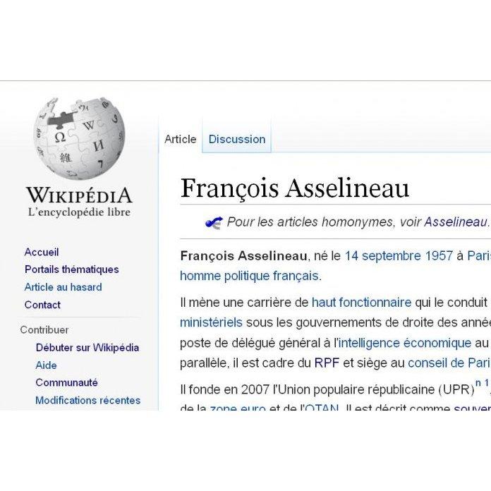 4e392d51084db6 La face sombre de Wikipedia (1) : le cas François Asselineau ...