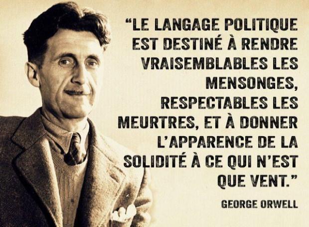 Muselières -  pour les esclaves !!!  Infos - Capitales !!! Orwell-langage-politique-344ae