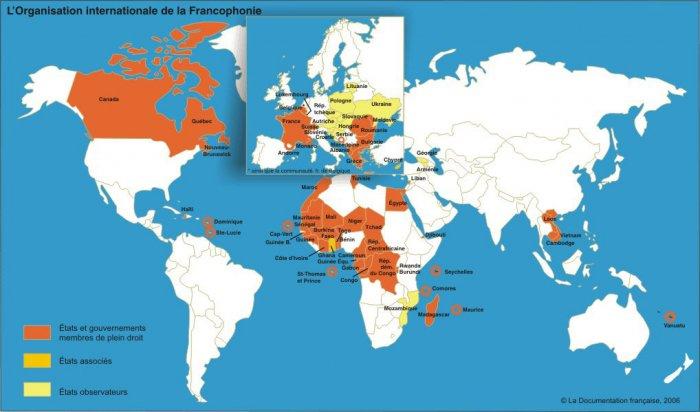 Carte De Lafrique Francophone.La Francophonie Un Vecteur De Croissance Economique