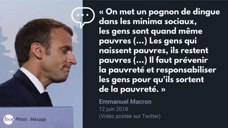 Macron aime tellement les pauvres qu'il en fabrique - AgoraVox le média  citoyen